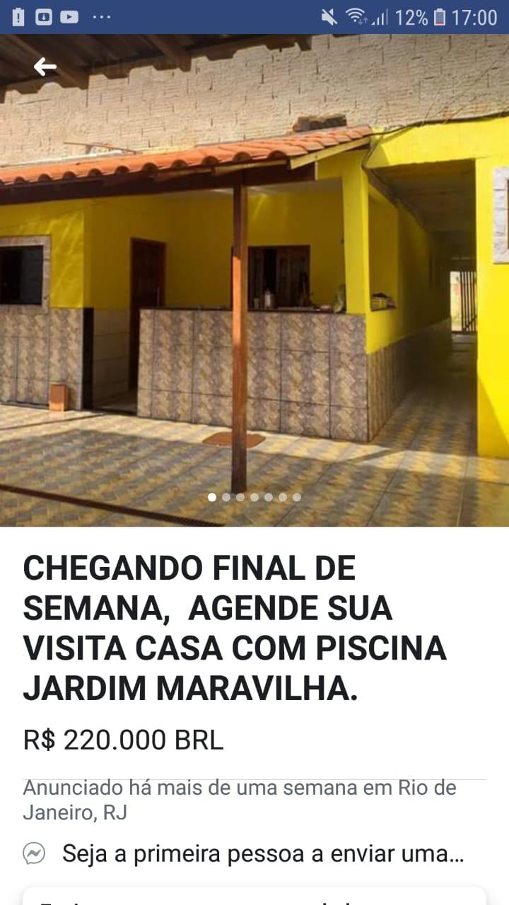 ÓTIMO CASA COM PISCINA JARDIM MARAVILHA, GUARATIBA.