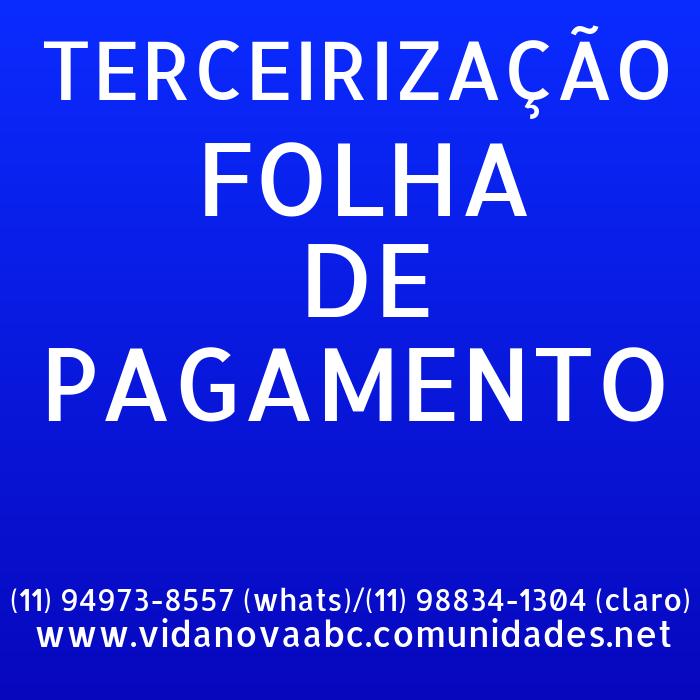 Terceirização de FOLHA DE PAGAMENTO e DEPTO PESSOAL  para contadores, Empresas, Micros, Empreendedor Individual, Autônomos, Domésticas e escritórios.