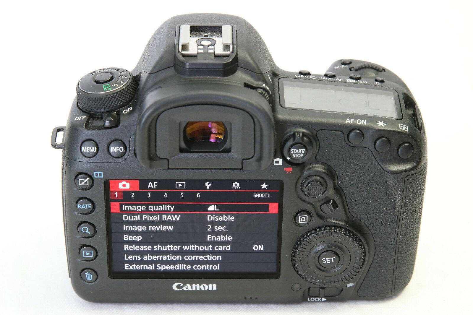 Câmera digital SLR Canon EOS 5D Mark IV de 30,4 MP MINT LN + BÔNUS DOIS Lentes Canon