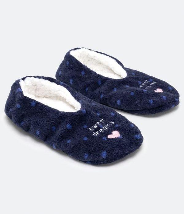 Meia Home Socks Poá com Coração | Accessories | Azul | 37/39