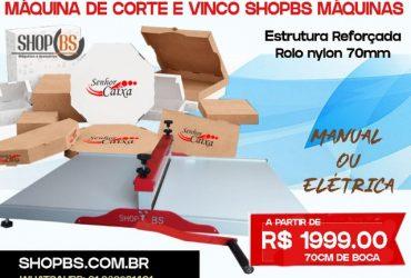 Maquina de corte e vinco Elétrica ( semi automática ) 100cm para embalagens e caixa de pizza