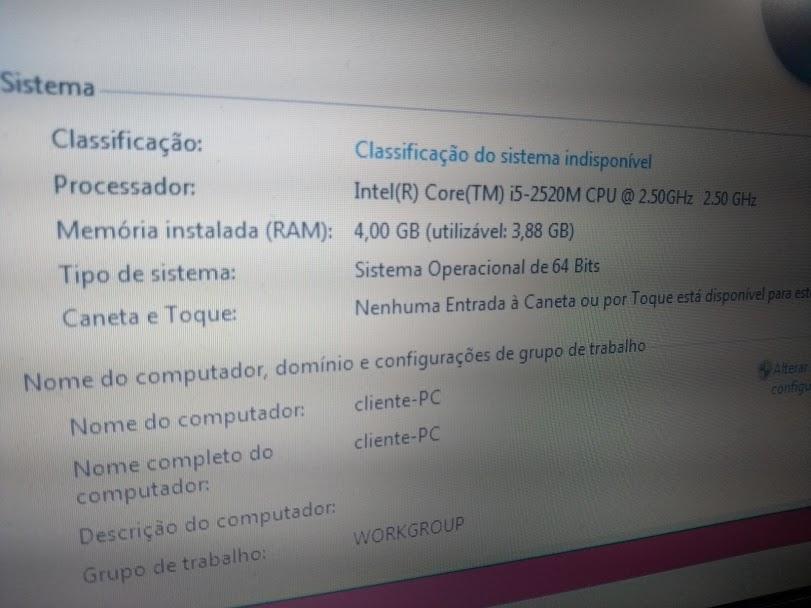 Notebook DELL latitude 6420 – intel core i5 – 128 gb SSD – 4 gb de memoria – rapido demais