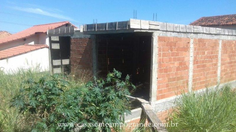 Campo Grande – Bairro Adriana – Terreno com 153m2 – Construção para Casa com 2 Suítes Iniciada – RGI