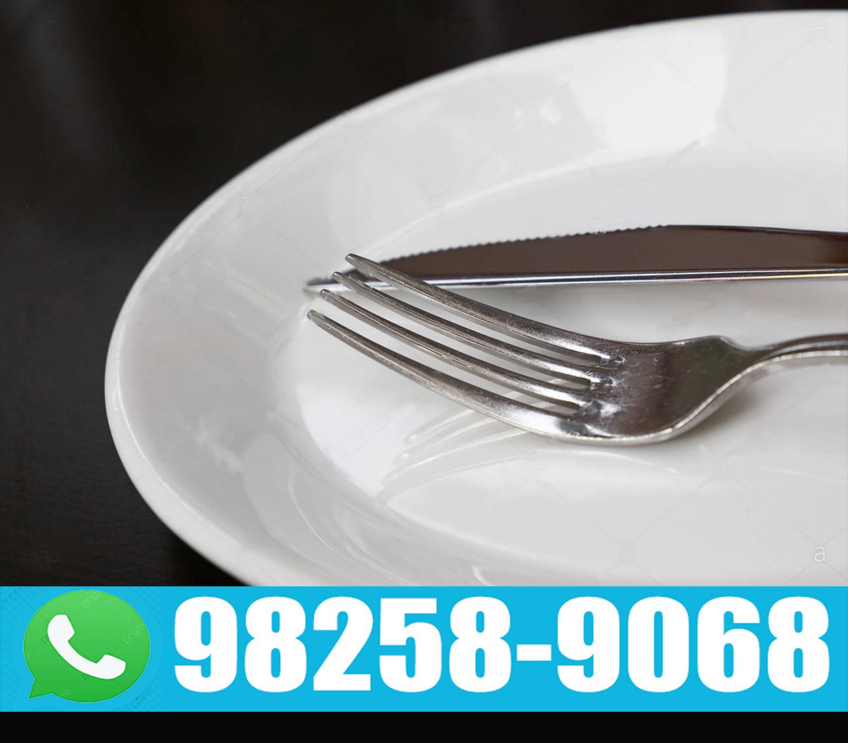 Aluguel de pratos e talheres