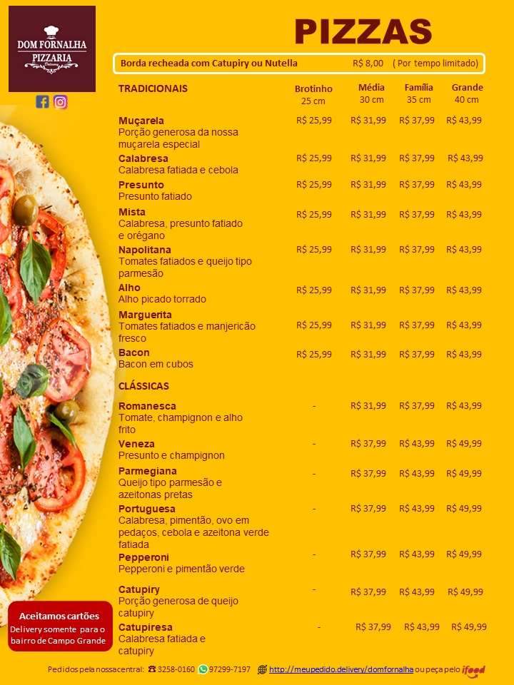 Dom Fornalha Pizzaria Delivery