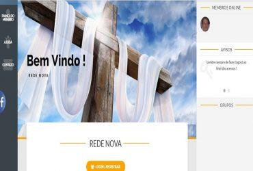 Sistema de administração de membros de igrejas online com Aplicativo