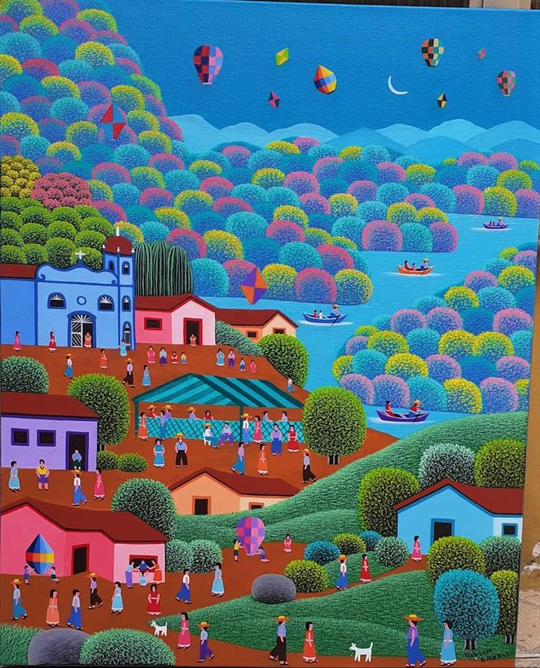 LINDAS TELAS DE ROBSON BARROS  ARTISTA NAIF