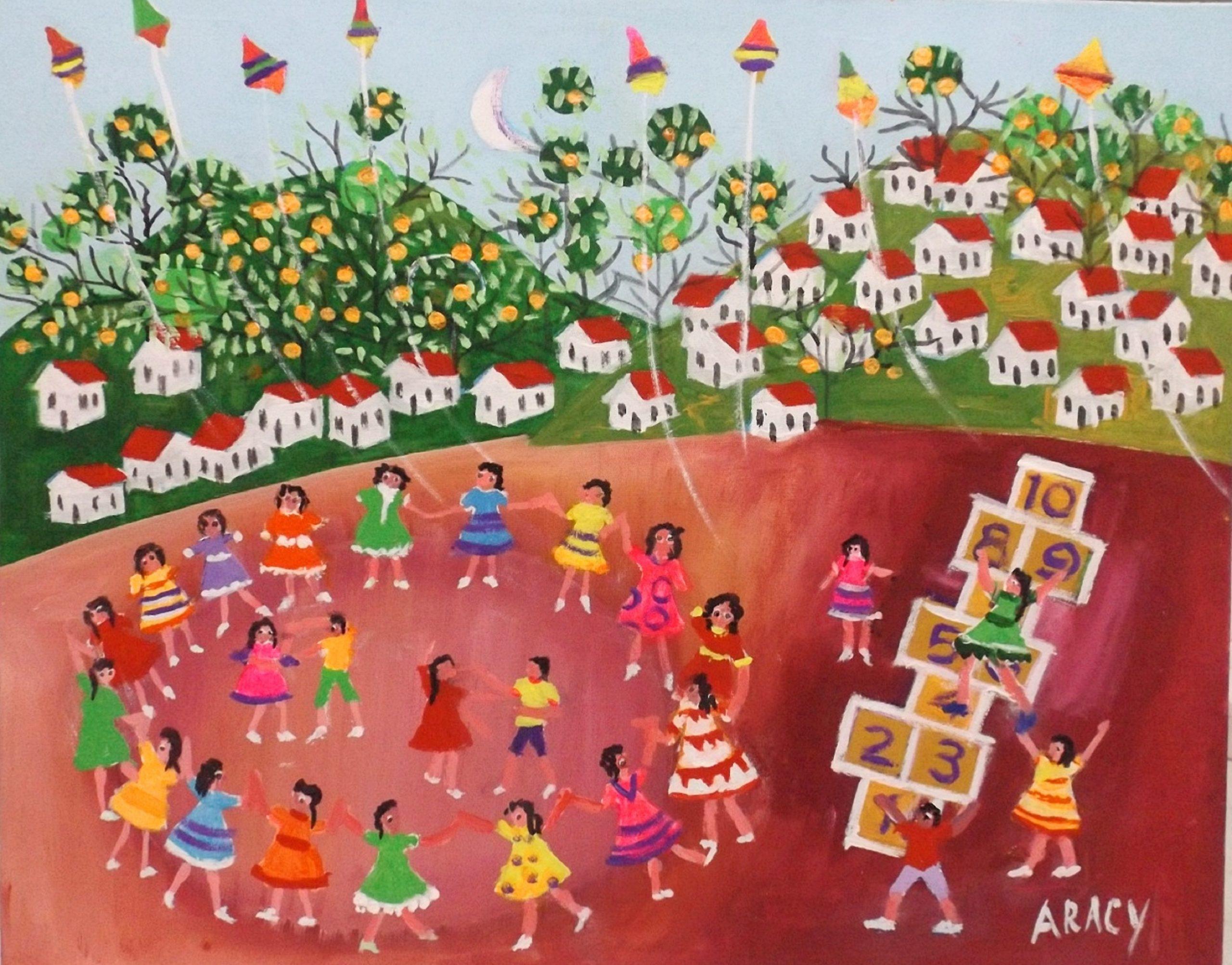 LINDAS TELAS DE ARACY ARTISTA NAIF