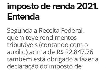Auxilio emergencial deve ser declarado no imposto de renda Contador VilaCasoni Londrina2