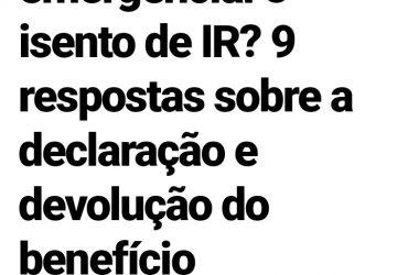 londrina###Auxilio emergencial deve ser declarado imposto de renda