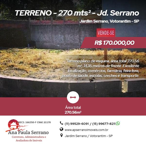 Terreno, Jardim Serrano, Votorantim