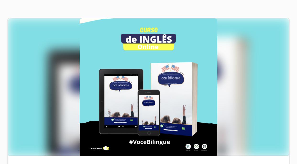 Cca idiomas !Curso de inglês pra você quer deseja se aprimora em inglê