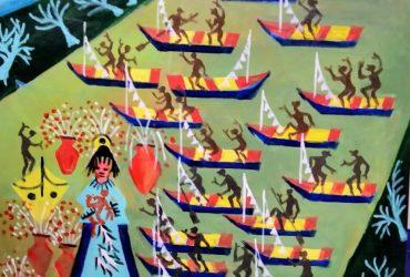 Aécio tema procisao dos Navegantes rio grande do sul Medida 60×60