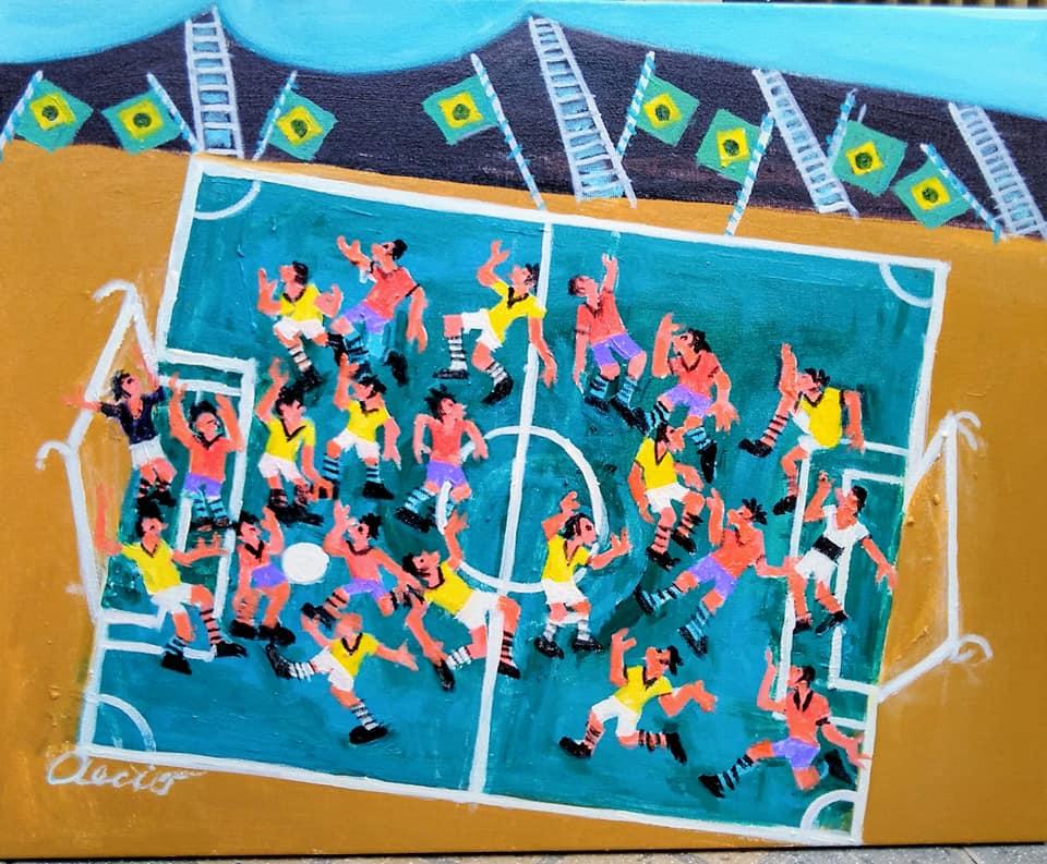 Aécio tema jogadores de futebol medida 50×40