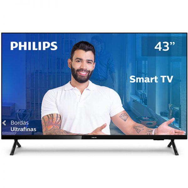 """Smart Tv Philips 43"""" 43pfg6825/78 Hd Sem Bordas Hdr Plus 3 Hdmi 2 Usb"""