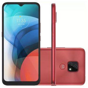 """Smartphone Motorola Moto E7 64gb 4g Tela 6.5"""" Câmera Dupla 48mp 2mp F"""