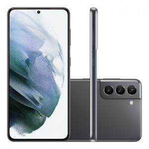 "Smartphone Samsung Galaxy S21 Tela Infinita De 6.2"" 128gb 8gb Ram Câm"