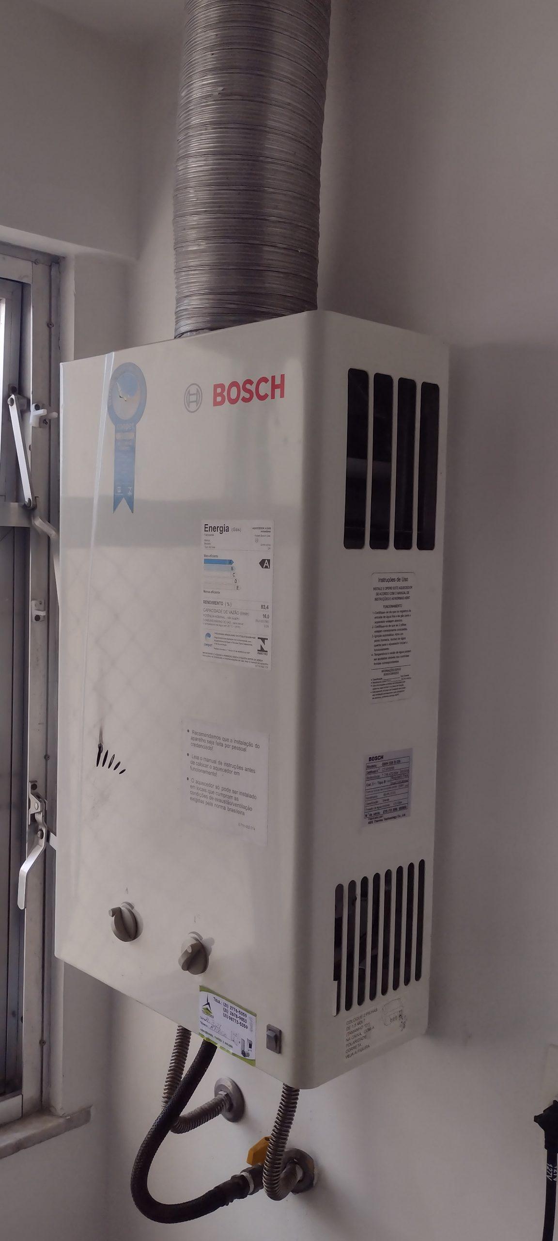 Conserto manutenção de Aquecedor Bosch em Botafogo