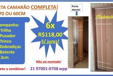 PORTA CAMARÃO COMPLETA! 80/70 OU 60CM